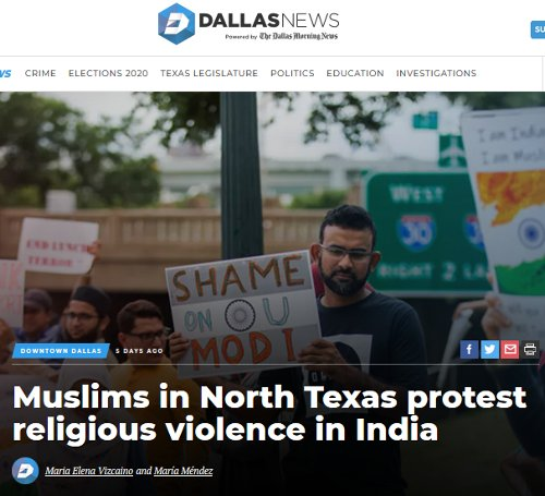 DMN July 2019 coverage of protest against religious violence in India